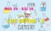 Tính chất hoá học của Lưu huỳnh (S), bài tập về lưu huỳnh - hoá 10 bài 30